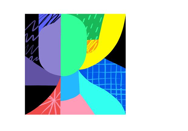 """alt=""""Colourful abstarct mosaic of a portrait"""""""