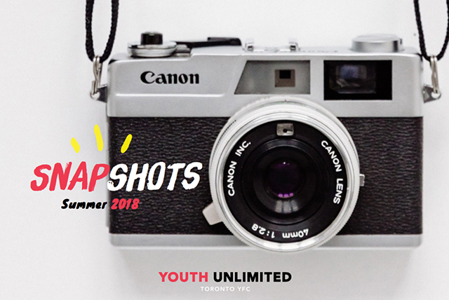 Picture of a camera as the Summer Snapshots 2018 booklet cover