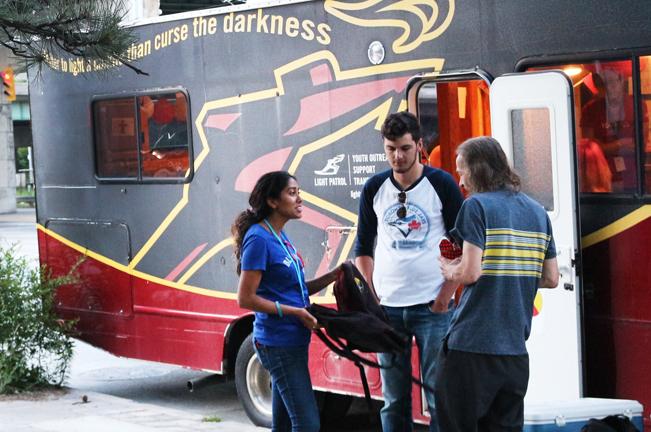 Light Patrol street outreach team conversing